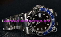 Stahllieferanten online-Fabrik-Lieferant-Luxus-STAHL-KERAMIK 116710 ZUFALLS-NEUES KASTEN- / OFFENES Edelstahl-Armband-mechanische automatische MANN-UHR-Armbanduhr