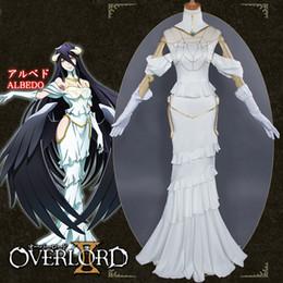 Trajes de anime de mujer online-Albedo Cosplay Anime Overlord White Dress Costume Women Overlord Albedo Cosplay Halloween Christamas