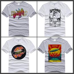 Wholesale led symbol - 2017 Hot High Quality Cotton Led zeppelin symbols vertical Funny T Shirt for men