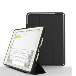 Wholesale ipad rubber skin - For iPad 6 Tablet Case Auto-Sleep Awake Multi-Folding Stand Protective for Apple iPad Mini 2 Case