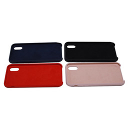 microfiber iphone Promo Codes - 5.8 inch Mobile Phone Case Thin Shockproof Case Liquid Silicone Gel Rubber Shockproof Case With Microfiber Cloth Phone Cover for Iphone X