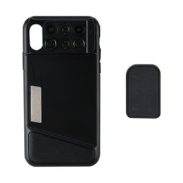 Wholesale Wide Angle Lenses - PHOLES X1 Phone Lens Case for iPhone X Fisheye Wide-angle Telephoto Macro Lens with TPU Protective Phone Case Dual Camera Phone Lens