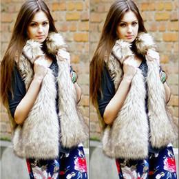 Wholesale Fur Vest Gilet - 2017 Winter Womens Fake Fur Coats Plus Size Sleeveless Faux Fur Jacket Ladies Luxury Fluffy Rabbit Vest Gilet Fourrure Femme