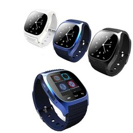 Wholesale Man Lcd Watches - Men smart watches M26 with LCD screen anti lost alarm pedometer Sleeping monitor fashion smartwatch for android ios phones