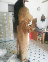 mascote de burro Desconto Novo Adulto Bonito MARCA Dos Desenhos Animados Adorável Hot Donkey Mascot Costume Fancy Dress Hot Sale traje Do Partido Navio Livre