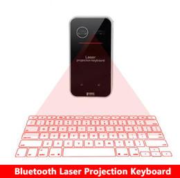 Teclado virtual sem fio bluetooth laser on-line-Novo teclado de projeção a laser virtual bluetooth com função mouse para smartphone pc portátil teclado sem fio portátil