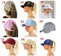 Wholesale wholesale easter hats - 13 color CC Ponytail Cap Messy Bun Women Ponytail Caps Cap Fashion Girl Basketball Hats Back Hole Pony Tail KKA4383
