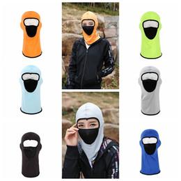 Wholesale net masks - Outdoor Cycling Full Face Mask Net Yarn Ventilation Hat Balaclava Motorcycle Cap Sunscreen Windproof Breathable Elastic Headwear DDA594