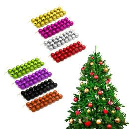 Wholesale Silver Ornament Balls - 24pcs Christmas Tree Xmas Balls Decorations Baubles Party Wedding Ornament Dropshipping
