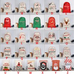 vente en gros de crayons noirs Promotion Sac de cordon monogrammable de Noël de Noël de Noël de 2018 sac avec des rennes Cadeaux de Noël monogramables sacs de sac