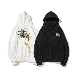 b59db1601f29 Sweat à capuche de style pour hommes Logo imprimé Splashing pull Terry Hip  hop à capuche en vrac manteau de lettre de mode nouveau style gros
