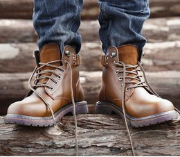 2019 botas de tendência de inverno Nova Tendência Botas de Segurança de Trabalho Botas de Combate Militar Boot Boot Couro Genuíno Sapatos de Trekking Inverno Homens desconto botas de tendência de inverno