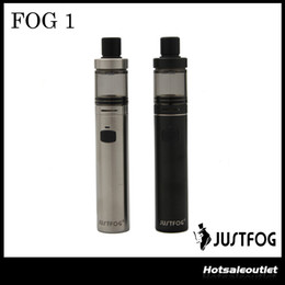 Wholesale Clearomizer Tank Black - Authentic Justfog FOG1 Starter Kit with 1500mah built-in Battery 1.99ml Tank Vape Pen Style Clearomizer Fog 1 Atomizer 100% Original