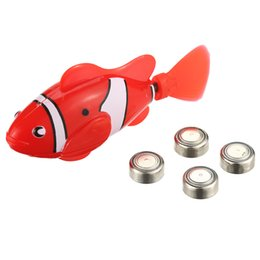Wholesale Fish Support - 10 colors Battery Powered Robo Toy Activated Electronic Fish Robotic Pet Cute Fun Robofish Support Drop Shipping