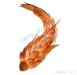 Wholesale fishing posts - Creative personality, fish shaped decorative wall lamp, post modern art wall lamp staircase aisle corridor living room bedside lamp