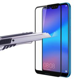 Печать закаленное стекло жесткий край экрана протектор гвардии для Huawei P20 Pro P10 Lite Nova 3 3e 2S Plus Mate 10 9 Y6 Y7 Y9 Honor V10 P SMART от