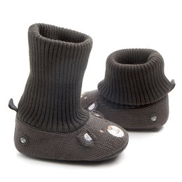 Argentina Cukbub 0-18 meses Baby Kids Warm Prewalker Boots Cute Toddler Girls Boys Dibujos animados Crochet Knit Crib Shoes Otoño Invierno Botines crochet baby booties for winter deals Suministro