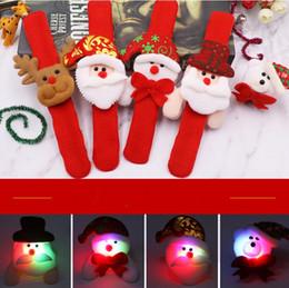 Wholesale Ribbon Bear - Christmas Gift Led Christmas Pat Circle Bracelet Santa Claus Snowman Bear Deer Bracelet Toy XMAS Decoration Ornament