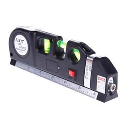 Laser vertical on-line-YIKODA Laser Nível Horizon Medida Vertical 8FT Alinhador Régua Métrica Padrão e Métrica