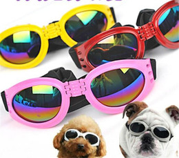 Защитные очки для собак онлайн-2018 Собака очки Мода собака солнцезащитные очки глаз носить собака защиты УФ солнцезащитные очки Солнцезащитные очки