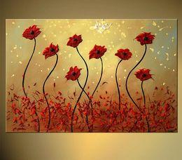 Картины акриловые онлайн-100% Ручная Роспись Абстрактный Цветок Искусство Картины Для Продажи Искусство Красоты Котировки Акриловая Краска Для Холста Искусства Декора