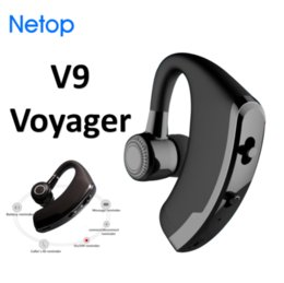 Wholesale Voyager Wireless - Netop Business V9 Bluetooth Headset Voyager Handfree Phone Call Upgrade From V8 Single Earhook Fro Driver Free DHL Shipping