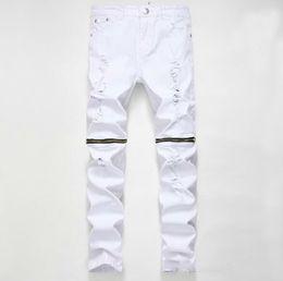 2020 pantaloni jeans hip hop Pantaloni del progettista di marca di alta qualità pantaloni distrutti mens slim denim shorts dritto biker jeans skinny uomo hip hop jeans strappati 28-38 pantaloni jeans hip hop economici