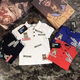 Wholesale boys polo t shirts - 2018 Lapel Polo T-shirt tracksuit sports leisure suits for boys 1:1 hot sale little designer clothes fashion High-quality size 100-150cm
