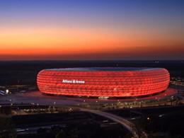 2019 modelos de papel Modelos de bloques de construcción Rompecabezas 3D Alemania Múnich Estadio de fútbol Estadios DIY Iluminación Ladrillo Juguetes Juegos de escamas Concurso de papel modelos de papel baratos