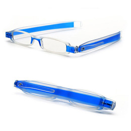 Wholesale Lighted Reading Glasses Wholesale - Classic Ultra-light Portable 360 Rotating Folding Reading Glasses PC Material Glasses 7 Colors +1.0 to +4.0 reading Age Glasses