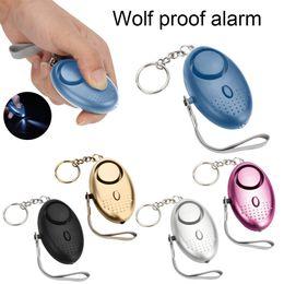 Alarme d'oeufs en Ligne-Alarme personnelle 130db Forme de œuf Autodéfense Alarme anti Wolf Girl Femmes Sécurité Protéger Alerte Fort 5 couleurs led lumière Porte-clés Alarme