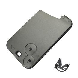 Wholesale Key Remote Case For Renault - EKIY 1pcs lot High Quality 2 button Remote Key Smart Car key Shell For Renault Espace Laguna 2 3 Key Card Case without blade