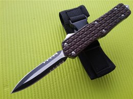 Wholesale Tactical Knife Pouch - New Large C1 Brown Combat troodon D A Auto EDC tactical knife knives A161 A162 616 A07 Pocket knife with nylon pouch Q
