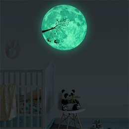 виниловый виниловый винил Скидка 30 см 3D Glow star moon стены стикеры для детей номера наклейка Baby спальня Home Decor Цвет звезды световой люминесцентные Dropship