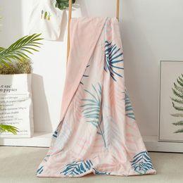розовый коричневый покрывало Скидка Одноместный двухместный размер постельные принадлежности простыня покрывало одеяло элегантный флис фланель покрывало диван кондиционер диван бросить одеяло