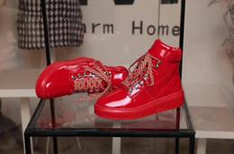 2018 nueva Moda womne Contador calidad cuero genuino negro rojo punta redonda con cordones botines de las mujeres desde fabricantes