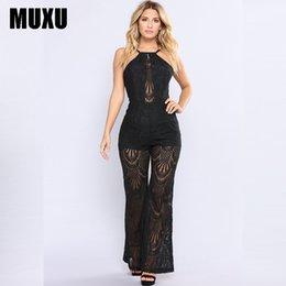 139dde9ad8d MUXU sexy bodysuit jumpsuit body women combinaison femme summer black lace  long jumpsuits transparent backless ladies suspenders