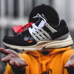Wholesale Air 45 - 2018 High Quality The Ten Off x Air Presto Virgil Abloh OFF Men And Women Running Sneakers Outdoor White Sport Shoes Eur 36-45