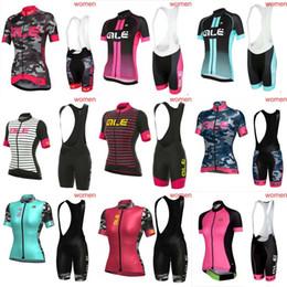 Wholesale Bib Shorts Cycling Jersey Woman - 2018 ALE Cycling Jerseys Short Sleeves Summer Style For Women Ropa Ciclismo Cycling Tops + bib shorts sets C1203