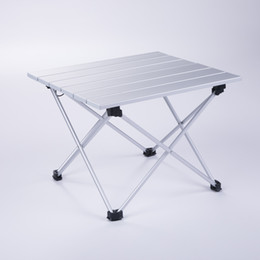 Wholesale bbq sizes - Aluminum Folding Collapsible Camping Table Roll up with Carrying Bag for Outdoor Picnic, BBQ, Beach, Hiking, Travel,Small size EL011
