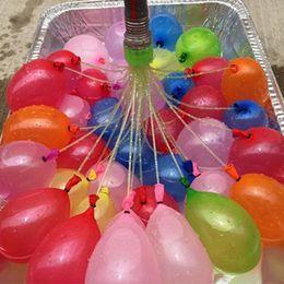 HOT Water Balls 1 Lot = 3pcs = 111 Воздушные шары Водный бомбовой насос Быстрый инъекции Летние пляжные игры Водные надувные баллоны с выбросами STY083 от
