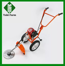 Wholesale Hand Cutter Machine - Hand push mower New popular four-stroke grass cutting machine Lawn mower brush cutter two-stroke power mower