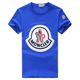 2019 baratos de marca ropa de los niños Nueva camiseta de los hombres del verano para hombre del diseñador Camisetas para hombre Ropa de verano camisas para hombres sueltas de algodón sin costura camiseta del bordado # 5018