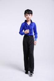Niño Traje de baile latino Boy Modern Waltz Dance Clothing para la competencia Kids Latin Practice Dress Vestuario de salón 89 desde fabricantes