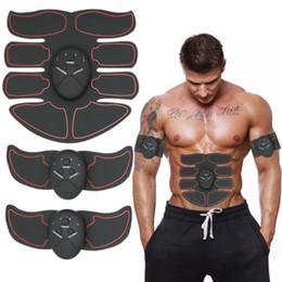 Canada Muscle Toner Huit-pack Mobile-Gym ABS Smart Fitness EMS Fit Tonification Électrique Musculaire équipement Body Building Device Red Line Livraison Gratuite Offre