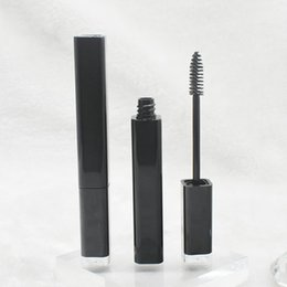 Wholesale Mascara Vials - Empty Mascara Tube Eyelash Cream Vial Liquid Bottle Container black Cap Cosmetic Mascara Packaging Makeup Tool F20173410