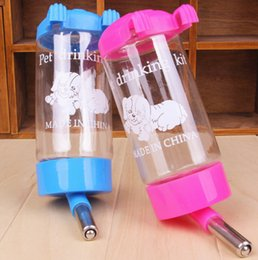 Wholesale Hamster Balls - High Quality Hanging Hamster Waterer Rabbit Automatic Water Dispenser Ball Steering Type Drinker For Pet 450ML  250ML 125ML 80ML