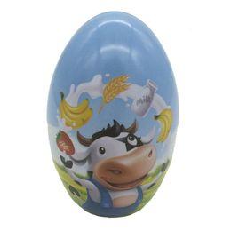 Caja de dulces de huevo de pascua online-Venta caliente 100 unids / lote Zakka Mini caja de la lata de huevo de Pascua en forma de patrón mezclado caja de caramelo de la boda envío gratis