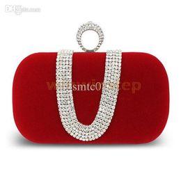 quasten-eimer tasche blau Rabatt BS # S Rote Abendtasche Strass Clutch Ring Bridal Party Handtasche Schulterkette