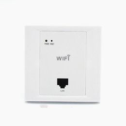 Argentina WiFi inalámbrico blanco en pared AP Habitaciones de hotel de alta calidad Cubierta de Wi-Fi Mini punto de acceso de enrutador AP de montaje en pared Suministro